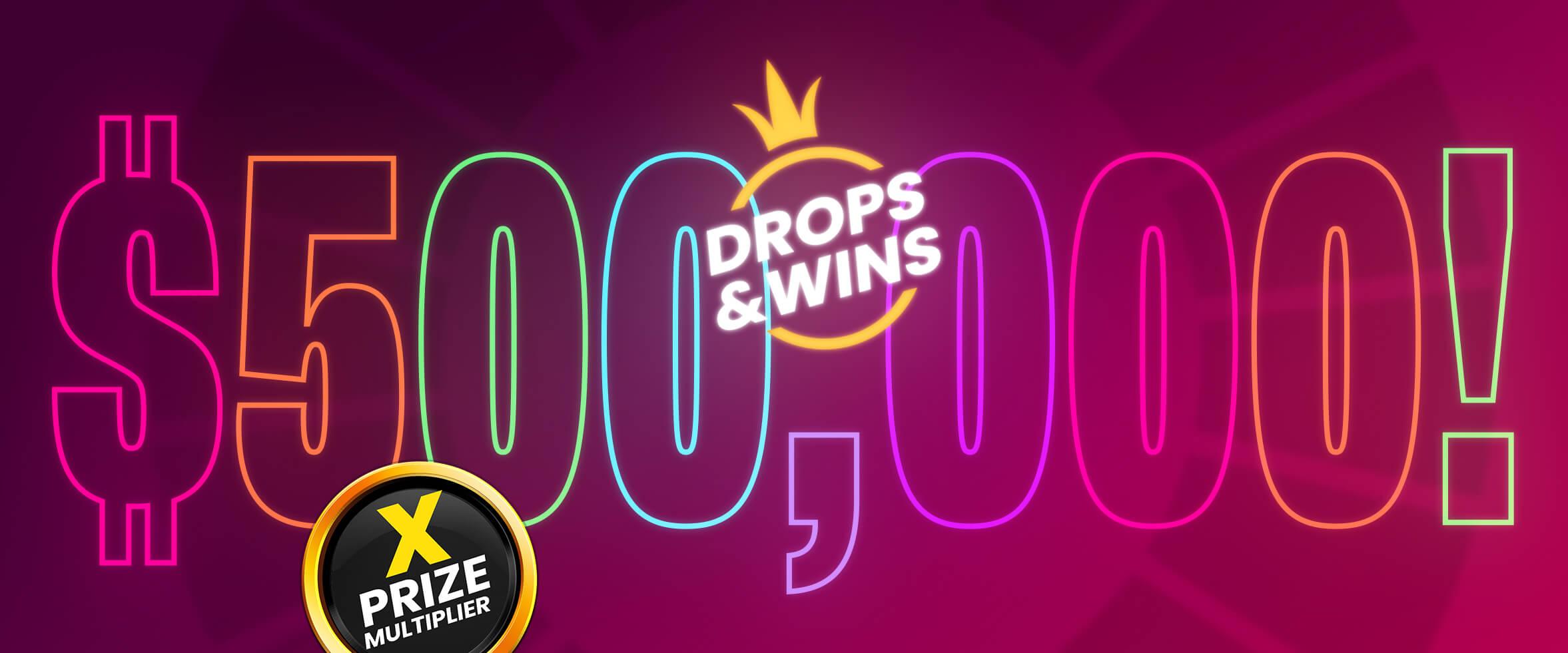 1 million de $ en prix mensuels grâce à Drops & Wins
