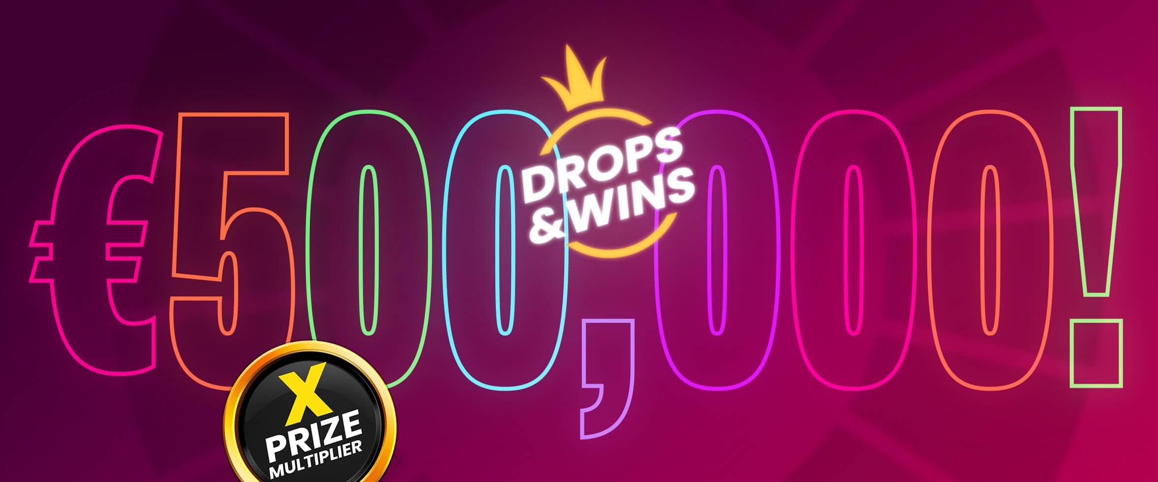 Drops & Wins kuukausittaiset palkinnot tuplattu 500 000€ asti