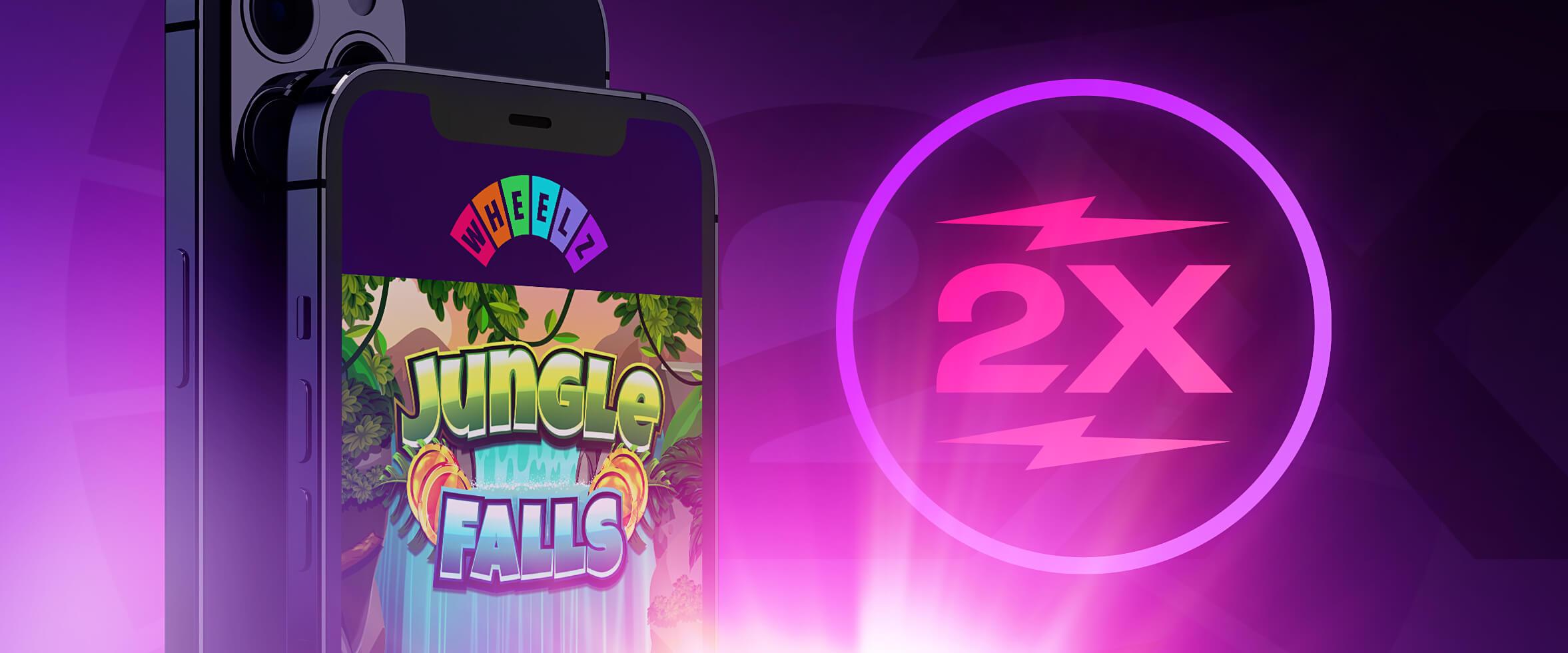 Double Speed eksklusiiviseen Jungle Falls -uutuuspeliin