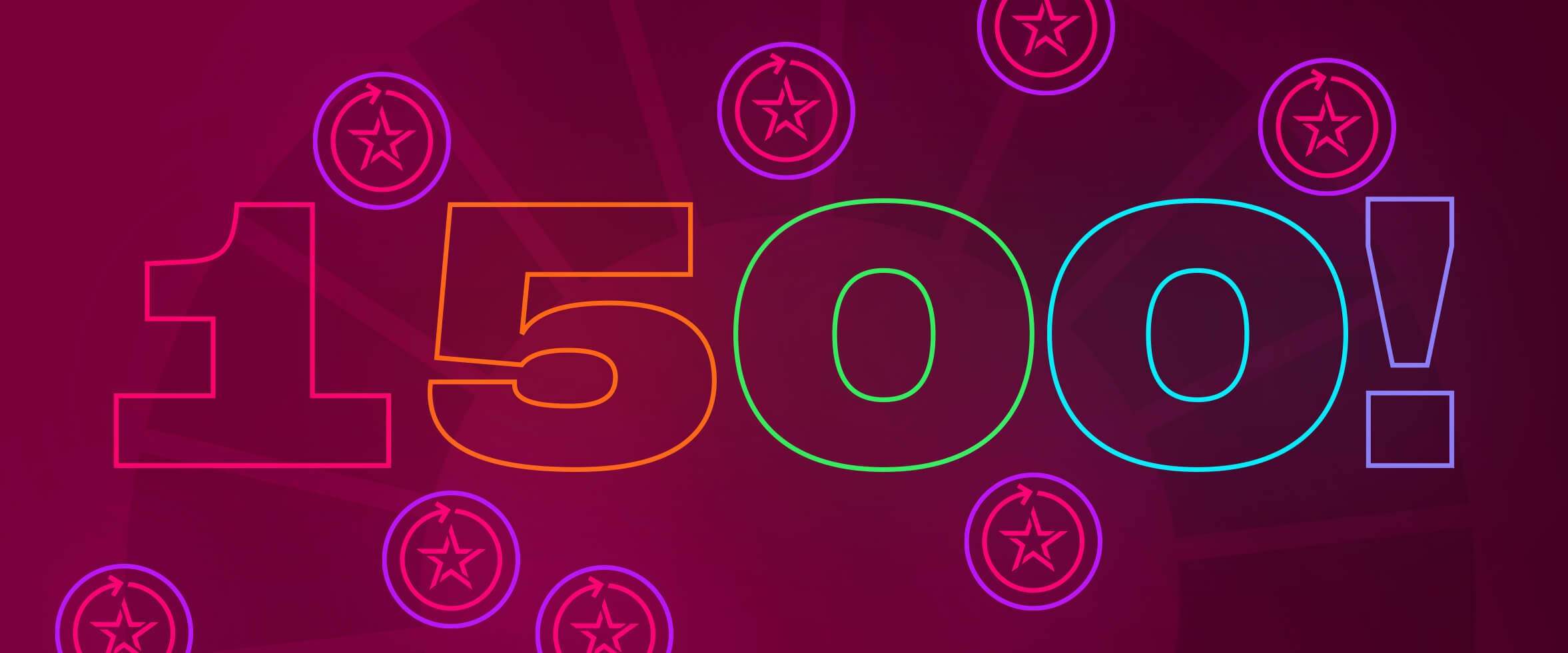 1500 Free Spins this September